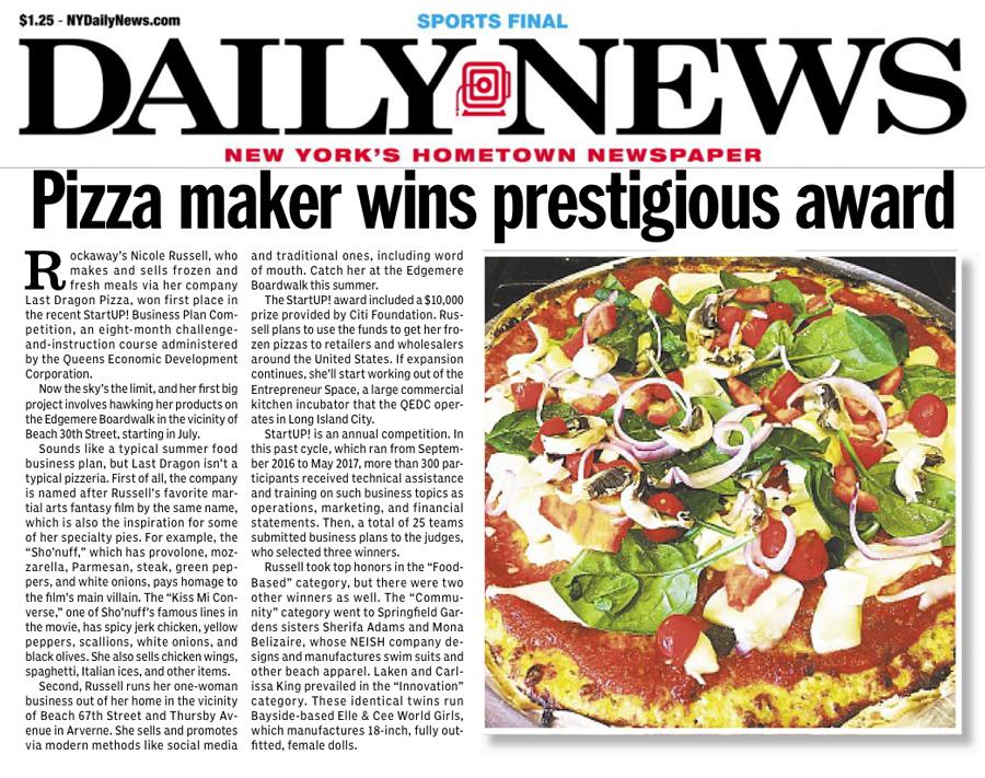 Pizza Maker Wins BIG!