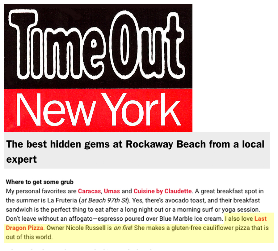 Time Out NY: The Best Pizza in Rockaway Last Dragon Pizza