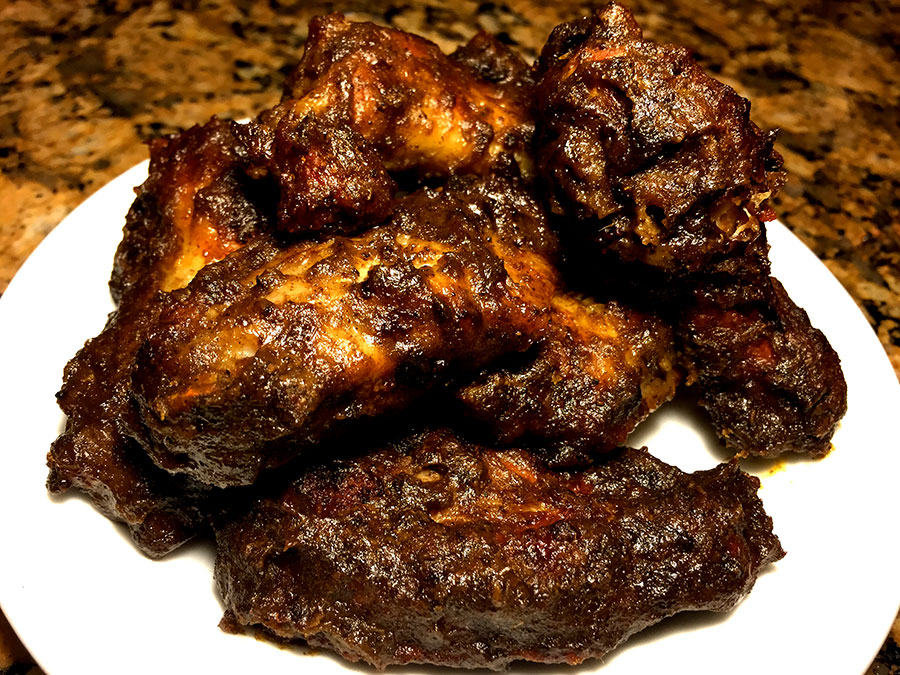 The best                                                           Jerk wings                                                           inspired by                                                           The Last                                                           Dragon
