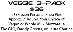 Order our veggie frozen pizza, or margherita frozen pizza inspired by The Last Dragon